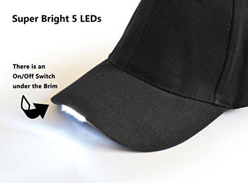 a46d453c4e3 UltraKey Hands Free LED Baseball Cap Light Glow Bright Women Men Sport Hat  Dark for Outdoor