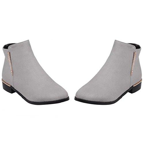 Boot Grey Classic Women's Classic AIYOUMEI Women's Boot AIYOUMEI z0Y18q