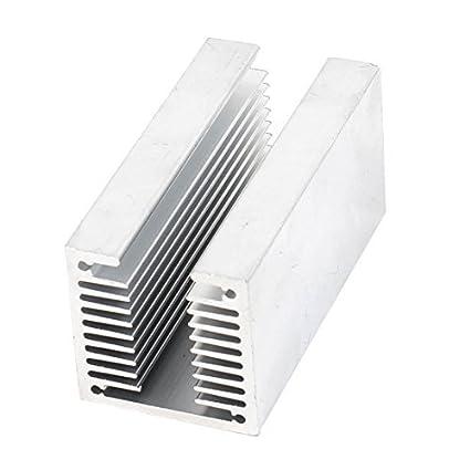 eDealMax tono de Plata T ranurado radiador de aluminio del disipador de calor del disipador de