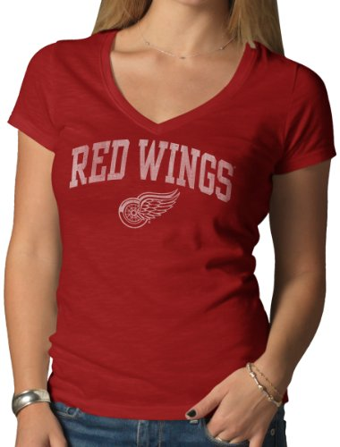 '47 NHL Detroit Red Wings V-Neck Scrum Tee, Large, Rescue Red