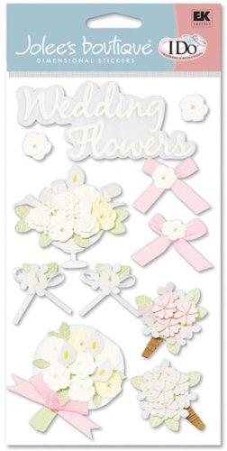 Jolee's Boutique Wedding Le Grande Dimensional Stickers, Flower Bouquet ()