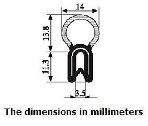 Vertical Bombilla Trim Seal Bombilla di/ámetro 0.55/Brida Tama/ño 0,039 A 0,14/