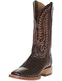 Relentless By Ariat Mens Relentless Toffee Giant Caiman 13 Pebbled Chocolate Top Cowboy Boots