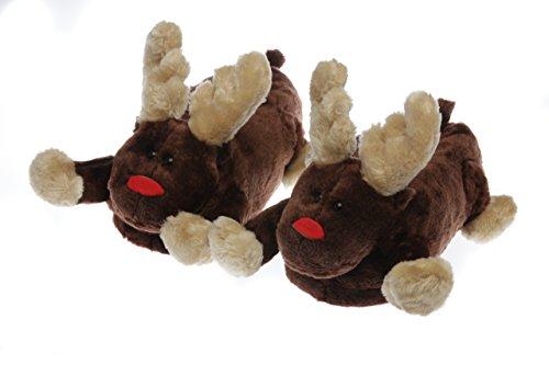 Monster Hausschuhe für Männer und Frauen: Kuriose Merry Elch Tier Hausschuhe