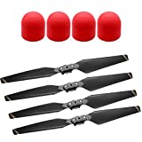 Neewer Drone Quadcopter Propeller Accessory Kit for DJI Mavic Pro, Includes: 2 Pairs Black Foldable Balance Propellers Blades and 4 Pieces Red Propeller Motor Protector Cap Cover Case