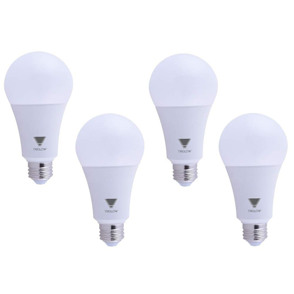 TriGlow T95441-4 (4-Pack) 22-Watt (150/200 Watt Equivalent) LED A21 Bulb, DIMMABLE 3000K (Soft White Color) 2550 Lumens, UL Listed