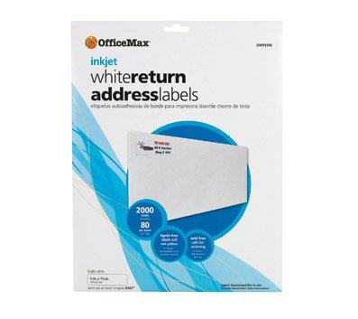 (OfficeMax 8-1/2 x 11 Inkjet White Labels, Black/Color Print)