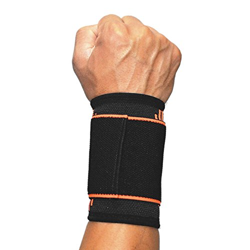 SOFIT Wrist Compression Strap and Support, Wrist Brace with Elastic Bandage Wraps for Weightlifting, Tennis, Tendonitis, Joint Pain Relief for Arthritic Sufferer, Injury Prevention for Men & Women