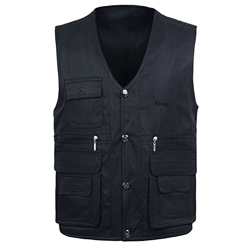 To Mens Both Waistcoats Sides Lightweight Dark Wear Practical Fishing Zhhlinyuan Outdoor Vest Blue zd0Zxw