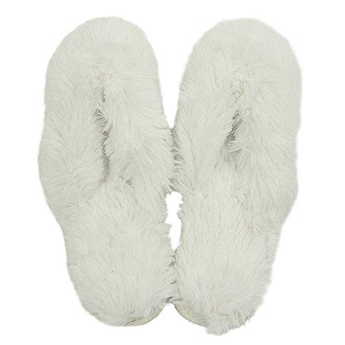 Pantofola Casa Delle Donne Caldo Carino Lungo Pile In Pile Casa Coperta Pantofole Spa Zoccoli Bianche Perizoma Pantofole