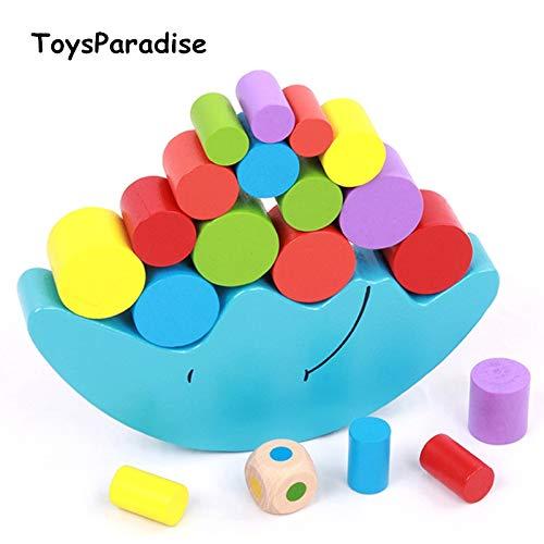 Best Quality - Blocks - Baby Toys Moon Balancing Game Educational Building Blocks Wooden Toy Geometric Blocks Child Birthday Gift - by Viet SF - 1 Pcs - Wood Block Heel Sandals
