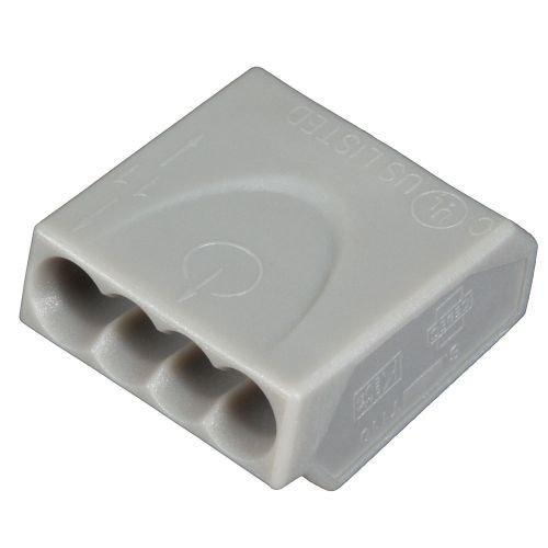 ViD C1004251 Verbindungsklemmen/Steckklemmen grau 0, 5 - 2, 5 mm² 100 Stück Viola Direkt GmbH