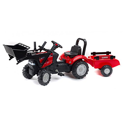 Universal Hobbies Case IH Maxxum 130 CVX Pedal Tractor with Loader and Trailer by Falk