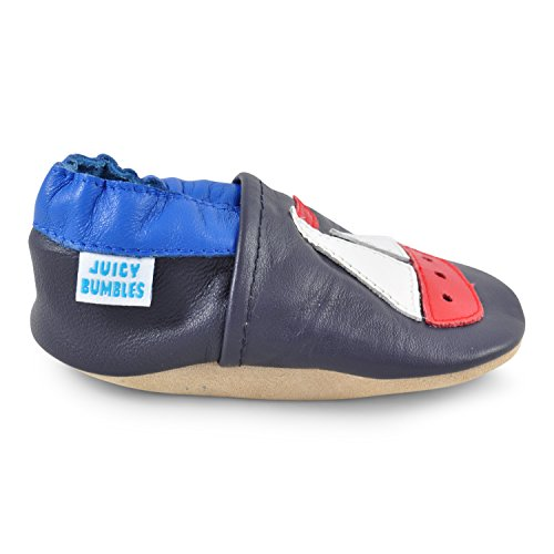 Juicy Bumbles - Zapatos de Bebé – Ballena - 0-6 Meses Barco de vela