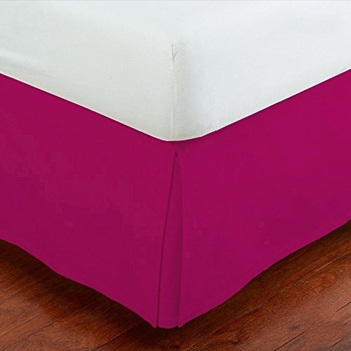 Fancy Collection Easy Care Tailored Microfiber Bed Skirt Solid New (Queen, Pink)