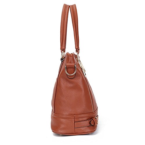 Hobo Purse Handbags Shoulder Mayshe Handle Women's Tote Large Top Brown Capacity cxg4OA