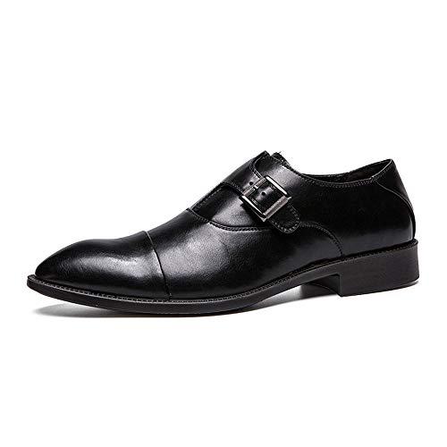 uomo traspirante casual e uomo metallo bottoni Nero Sottopeso comodo big da Oxford shoes scarpe 2018 Business scarpe in eleganti da Scarpe 9 Hongjun Nero size qfFvantZw