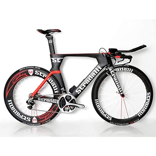 87d29f103ba STRADALLI AERO Triathlon TRI TT Bike ULTEGRA Di2 8050 Carbon 50MM 85MM  WHEELSET [Large]