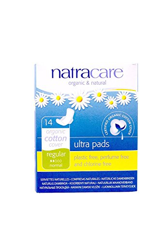 Organic Cover Cotton Certified (Natracare – Organic Cotton Cover Ultra Pads with Wings - 14 Count (4 Pack))