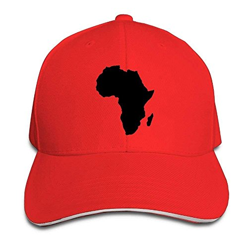 jacson Africa Map Unisex Baseball Hats Casual Adjustable Sandwich Bill Peaked Caps by jacson