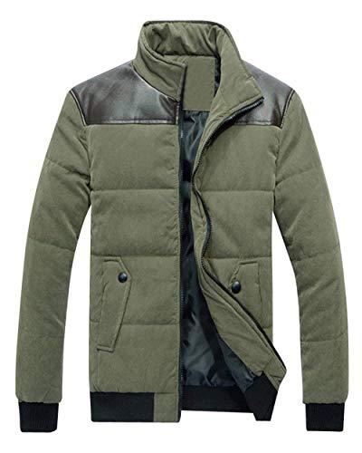 Adelina Winter Jacket Men's Zip Longsleeve Bomber Warm Jacket Down Jacket Chaude Comfortable Leisure Transition Jacket Coat Armee-grün