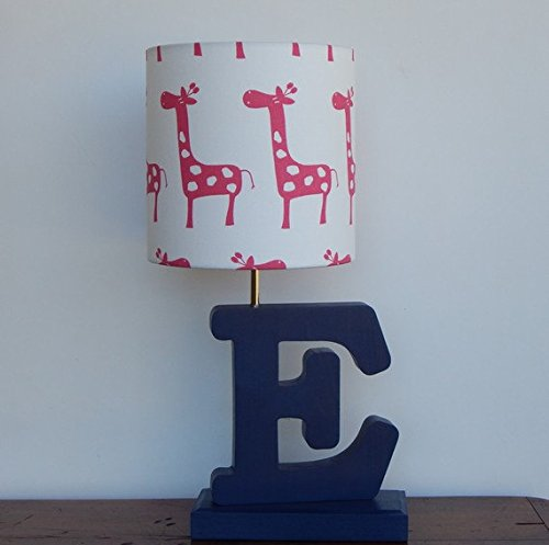 White with Pink Giraffes Lamp Shade
