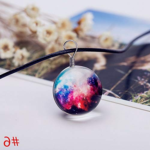 Werrox New Stars Short Glass Galaxy Pattern Necklaces Glass Pendant Necklace Jewelry | Model NCKLCS - 22589 | -