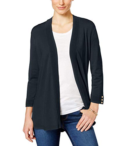 - Charter Club Womens Button-Cuff Cardigan (Deepest Navy, Small)