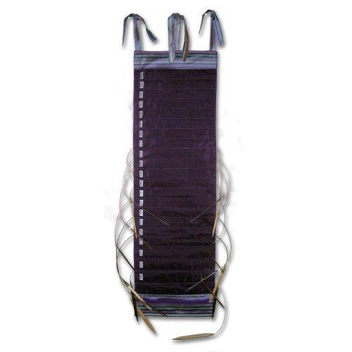 della Q Hanging Knitting Holder for Circular Knitting Needles 018 Purple Stripes 142-1-018