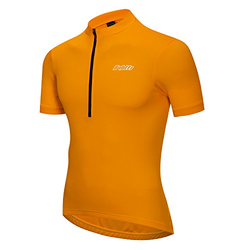 Bpbtti Men's Short Sleeve Cycling Jersey-Solid Colors (X-Large 42-44', Gold (Yellow Gold Solid Long Box)