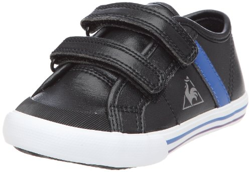 Le Coq Sportif Scarpe SAINT MALO SYN INF STRAP Unisex - Kinder Schwarz - Noir (Black/Olympian Blue)