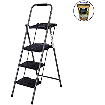 COLIBROX--New HD 3 Step Ladder Platform Folding Stool 330