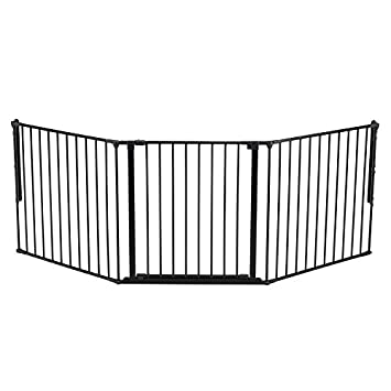 Amazoncom BabyDan Flex Gate Large 354 878 Black Baby