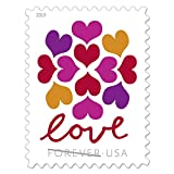 USPS Hearts Blossom Love Forever Stamps - Wedding, Celebration, Graduation (1 Sheet of 20 Stamps) 2019