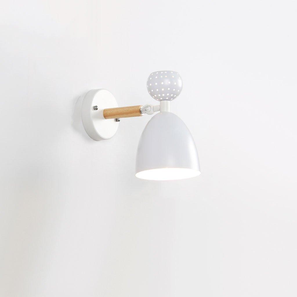 Wandleuchte lampe Wandleuchte - Minimalist Modern Macarons Wandleuchte Kreative Persönlichkeit Schlafzimmer Kopfteil Wandleuchte Gang Korridor Massivholz Wandleuchte (Farbe   C)