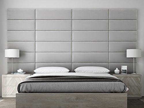 dboards - Accent Wall Panels - Packs Of 4 - PLUSH VELVET Platinum Gray - 39