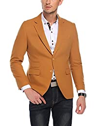 "<span class=""a-offscreen"">[Sponsored]</span>Men's Slim Fit Single-Breasted Casual Suit Jacket Solid Sport Coat"