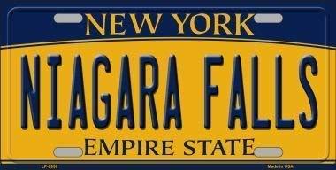 New Tin Sign Aluminum Retro Niagara Falls New York Background Novelty License Plate Metal Sign 8 X 12 -