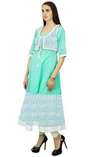 Phagun Baumwolle Blumenmuster Ethnischen Kurti Anarkali Designer Kurta  Tunika-Kleid: Amazon.de: Bekleidung