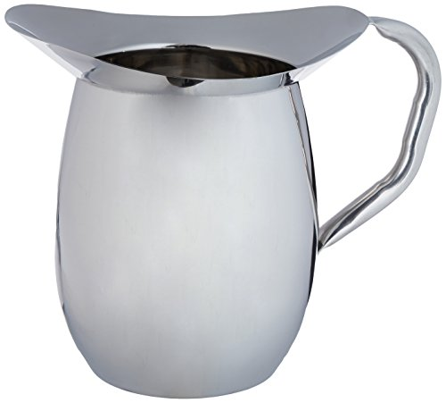(Winco WPB-3 Deluxe Bell Pitcher, 3-Quart, Stainless Steel )