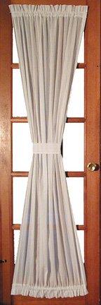 Window Toppers Kerry Door Panel Curtain With Tie Back 40-Inch-by-63-Inch - Natural (Back Door Panel Tie)
