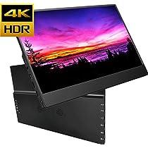 cocopar 4kモバイルモニタ 最新12.5インチHDR 3840x2160IPSゲーミングモニター ゲーム/PS3/XBOX/PS4/ ダブルHDMI/DP HDR機能を支持(厚さ9mm/重さ510g)