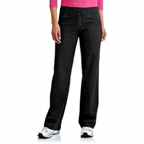 Danskin Now Women's Plus-Size Dri-More Core Relaxed Fit Workout Pant - 1X Plus - Black
