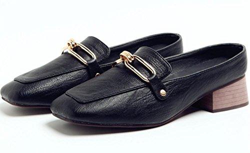 Sommer weibliche kühle Pantoffeln, dick mit weiblichen Sandalen Baotou faul Halbschuhe beiläufige Schuhe der Frauen Black