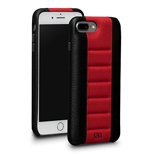 Sena Racer Case - Luxury race car inspired design leather case for iPhone 8 Plus / 7 Plus - Black / - Sena Cases Iphone