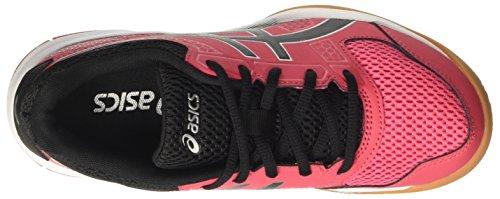 Asics Gel-Rocket 8, Zapatos de Voleibol para Mujer Multicolor (Rouge Red/black/white)