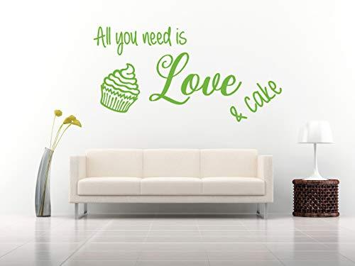 All you need is love and cake, Vinilo decorativo, mural, casa, hogar, decoración de paredes, salón, recibidor, cocina…