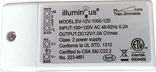 12V 12W Dimmable CV DC LED Driver ETL (UL) approved by illuminous (Image #3)