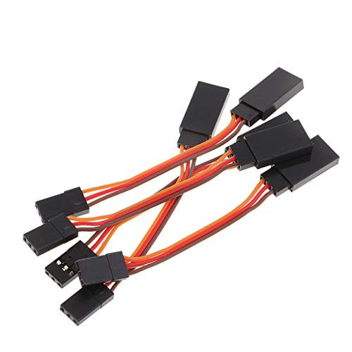 SM SunniMix 5 Pieces Male to Female Servo Extension Lead Cable 3 Pin Futaba JR Connector - - 5 Pin Connector Servo