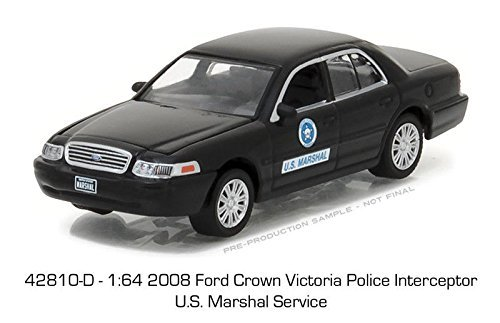 Greenlight 1/64 US Marshal Service 2008 Ford Crown Vic Police Car